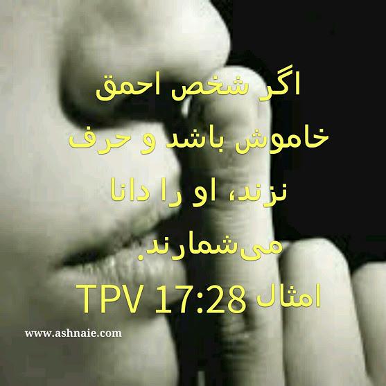 امثال باب ۱۷آیه۲۸